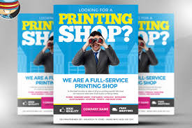 printing services flyer template flyer templates on creative market