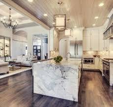 kitchen with white waterfall countertop contemporary updated kitchen waterfall waterfall edge countertop white kitchen