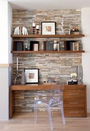 office feature wall ideas. 15 Exquisite Home Offices With Stone Walls Office Feature Wall Ideas U