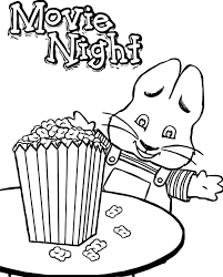 Small Picture Max Ruby Movie Night Eat Popcorn Max And Ruby Coloring Page