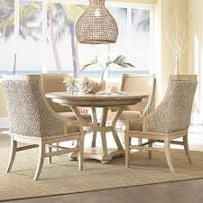 americana home 5 piece artisan s round table with 4 freeport accent chairs set