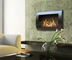 awesome wall mounted fireplace
