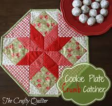 """Christmas Once a Month, Cookie Plate Crumb Catcher - The Crafty ... & Free Quilt Pattern: The Cookie Plate Crumb Catcher.This free quilt pattern  is called """"The Cookie Plate Crumb Catcher"""". Thanks to The Crafty Quilter  for ... Adamdwight.com"""