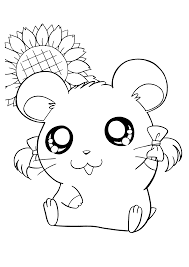 Girls Hamster Coloring Pages Coloringsuitecom