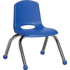 blue school chair. Stackable School Chair W/Chrome Legs, 16\ Blue