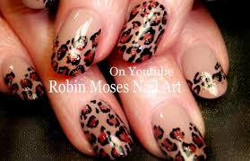 Easy Leopard Print Nails | Tan and black Traditional Nail Art ...