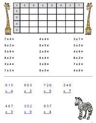 Fran's Freebies: Multiplication Worksheets — 2's to 5's | Home ...Fran's Freebies: Multiplication Worksheets — 2's to 5's