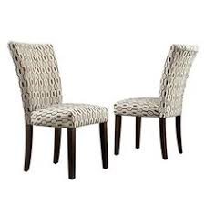 catherine print parsons dining side chair constructed from durable rubberwood and fabric rich espresso