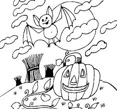Disegno Di Halloween Paesaggio Da Colorare Acolorecom