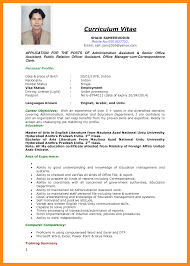 Best Ideas Of Excellent Cv Format Pdf For Cv Resume Example