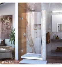 dreamline w 29 to 36 frameless hinged sliding shower door shdr 20317210