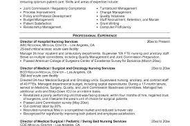 x 425 medical surgical nursing resume