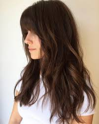 trenst long layered hair with bangs