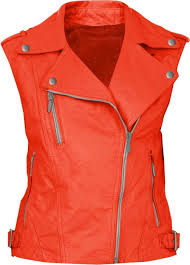 yellow quilted leather vest