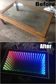 my diy infinity mirror coffee table project gifore info in comments