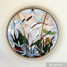 stained glass window vinyl wall mural monuments
