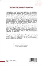 MYTHOLOGIE COMPARÉE DES STARS - Comment les fans inventent leurs idoles, Anthony  Galluzzo - livre, ebook, epub