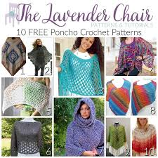 Free Crochet Poncho Patterns Magnificent 48 FREE Poncho Crochet Patterns The Lavender Chair