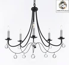 office chandelier lighting. A7-B15/B6/403/5 Empress Crystal (tm) Wrought Iron Office Chandelier Lighting L