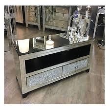 mirror tv unit. image is loading large-mirrored-glass-sparkly-diamond-glitz-crystal-tv- mirror tv unit