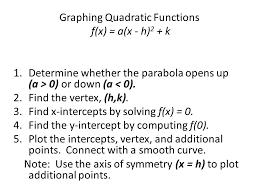 9 graphing quadratic