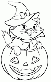 Halloween Cat Coloring Pages Free Printable