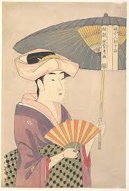 kitagawa utamaro kappa. woman with parasol kitagawa utamaro (japanese, 1753\u20131806) period: edo period kappa