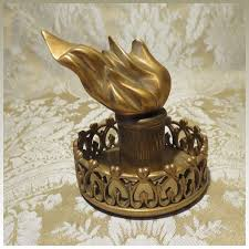 extraordinary statue of liberty torch bronze paperweight desk accessory antique french
