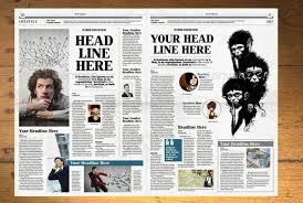 Free Indesign Newspaper Template Newspaper Template 12 Pages Indesign A3