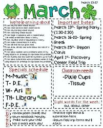 Music Newsletter Templates Elementary Classroom Newsletter Template
