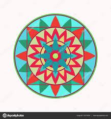 Mandala Tetování Ikona Geometrické řady Stylizovaný Ornament