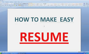 How To Type A Resume On Microsoft Word How To Write A Resume Cv With Microsoft Word Youtube How To