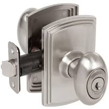 Decorating door knob sets keyed alike photos : Defiant Hartford Satin Nickel Entry Knob-TGX200 - The Home Depot