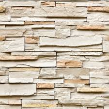 Peças finas para aplicação em revestimento de paredes. Papel De Parede Pedra Canjiquinha Stickdecor
