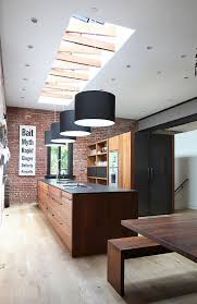 ... Unique skylight with trusses for the trendy kitchen [Design: Union  Studio]