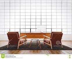 natural color furniture. Modern Interior Studio Loft Huge Panoramic Window,natural Color Floor,white Blank Walls.Generic Design Furniture Stock Illustration - Of Office Natural D