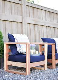 diy modern outdoor chair free plans