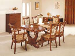 Wood Dining Table Set Elegant Antique Chinese Natural Furniture Dining Table And Chairs
