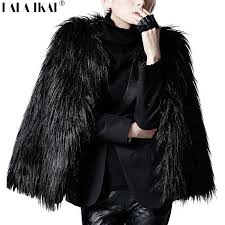 2019 lala ikai women winter black fur coat long sleeve faux fur outerwear lady short style jacket brand coats swq0080 5 from maoyili 39 81 dhgate com