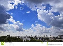 Midday Light Blue Sky From Bangkok City In Midday Light Stock Image