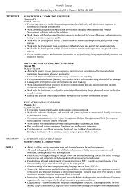 Test Engineer Resume Objective Test Automation Engineer Resume Samples Velvet Jobs Best Resume