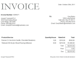 Microsoft Word 2010 Invoice Template Thedailyrover Com