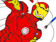 Small Picture Play Iron Man Cartoon Coloring Game Online