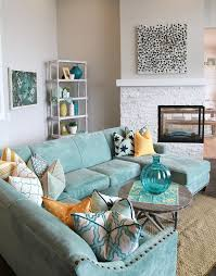 Living Room Turquoise Remodelling