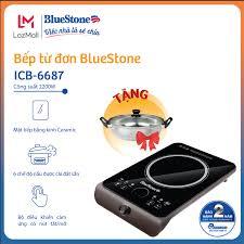 Bếp Điện Từ BlueStone ICB-6687 (2200W) - Tặng kèm nồi - Mặt nối Ceramic - 6  mức điều chỉnh - Bảo hành 24 tháng toàn quốc - Hàng chính hãng