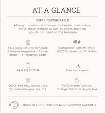 Reasons Why You Should Customize Your Cover Letter Unique Resume Template With Photo CV Template Cover Letter Etsy