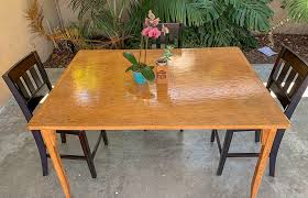 refinish and stain an old wood table