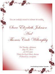 Free Wedding Invitation Templates For Word Marina Gallery