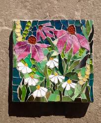 stained glass mosaic wall art door