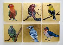 melissa huang birds 2016 6 x6 each oil on canvas